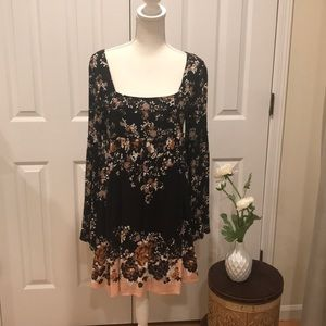 Free people baby doll floral dress!